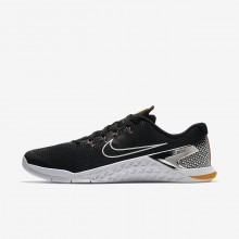 106YOTNP Nike Metcon 4 Training Shoes For Men Black/Laser Orange/Fuchsia Blast/Metallic Silver