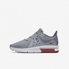 107QRWYM Nike Air Max Sequent Running Shoes For Boys Wolf Grey/Anthracite/Pure Platinum