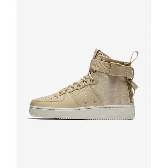 114YUBQT Nike SF Air Force 1 Lifestyle Shoes For Women Mushroom/Light Bone