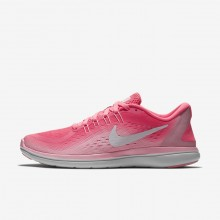 117AEQWG Nike Flex 2017 RN Running Shoes For Women Sunset Pulse/Arctic Punch/White