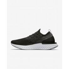 119MYBTH Nike Epic React Flyknit Running Shoes For Women Black/Dark Grey/Wolf Grey/White