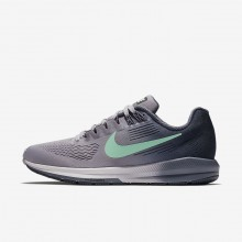 120GNUSH Nike Air Zoom Running Shoes For Women Provence Purple/Thunder Blue/Light Carbon/Green Glow