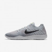 124TYIKE Nike Free TR Training Shoes For Women Pure Platinum/Plum Fog/Mica Blue/Anthracite