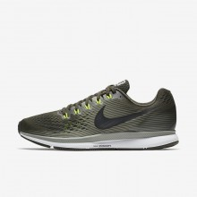 127JHBIS Nike Air Zoom Running Shoes For Men Sequoia/Dark Stucco/Volt/Black