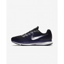 142VAEZG Nike Air Zoom Running Shoes For Women Black/Ink/Provence Purple/Metallic Silver
