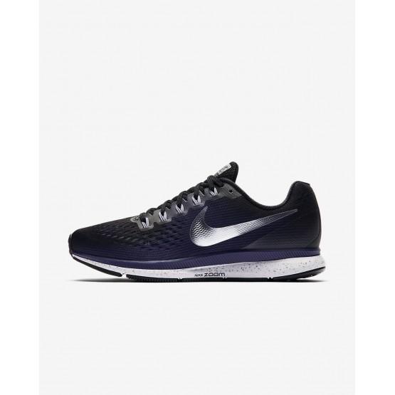 142VAEZG Nike Air Zoom Løpesko Dame Svart/Lilla/Metal Sølv