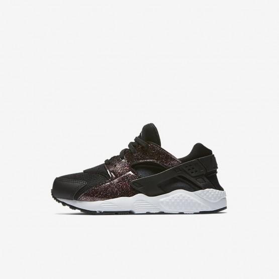 143FBKQN Nike Huarache Lifestyle Shoes For Girls Black/Pink Prime/White
