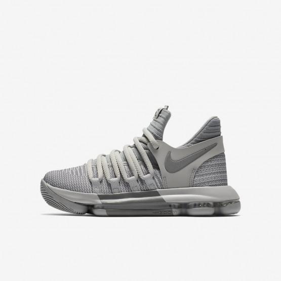 144GATFC Nike Zoom KDX Basketball Shoes For Boys Wolf Grey/Cool Grey
