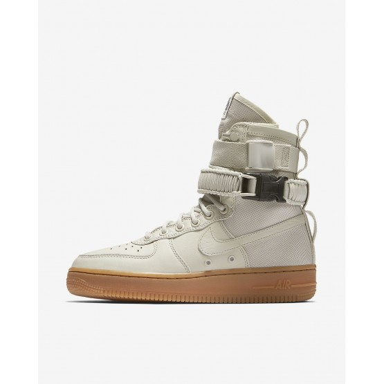 149BEVRD Nike SF Air Force 1 Lifestyle Shoes For Women Light Bone/Gum Medium Brown