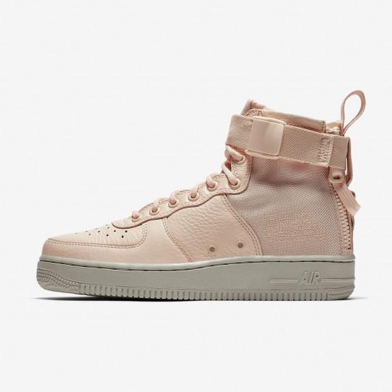 151ZFAON Nike SF Air Force 1 Lifestyle Shoes For Women Orange Quartz/Pale Grey