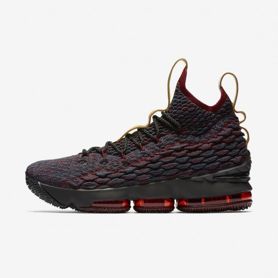 162SUQIG Nike LeBron 15 Basketball Shoes For Women Dark Atomic Teal/Team Red/Muted Bronze/Ale Brown