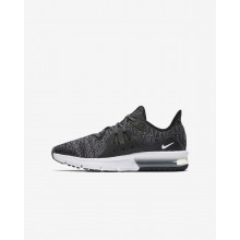 165MXODB Nike Air Max Sequent Running Shoes For Boys Black/Dark Grey/White/Metallic Hematite