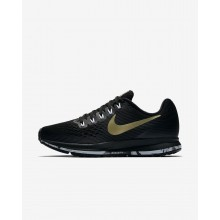 179EZNUM Nike Air Zoom Running Shoes For Women Black/Anthracite/White/Metallic Gold Star