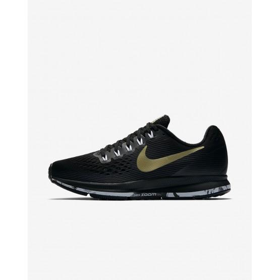179EZNUM Nike Air Zoom Løpesko Dame Svart/Hvite/Metal Gull