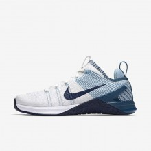190HQNJI Nike Metcon DSX Training Shoes For Women White/Mica Blue/Night Factor/Navy