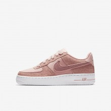 191PFBLK Nike Air Force 1 Lifestyle Shoes For Girls Coral Stardust/White/Rust Pink