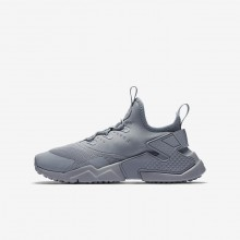 192AYMPH Nike Huarache Lifestyle Shoes For Boys Wolf Grey/White