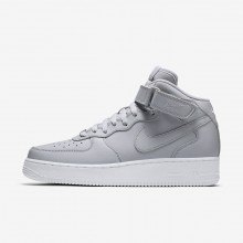 196UQCZF Nike Air Force 1 Lifestyle Shoes For Men Wolf Grey/White