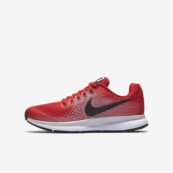 198HQRTG Nike Zoom Pegasus Running Shoes For Boys Speed Red/Vast Grey/Black/Anthracite
