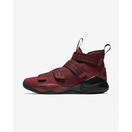 201YDNJL Nike LeBron Soldier XI Basketball Shoes For Women Team Red/White/Total Crimson/Black