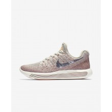 216TJSRY Nike LunarEpic Low Running Shoes For Women Pale Grey/Sunset Glow/Taupe Grey/Metallic Silver
