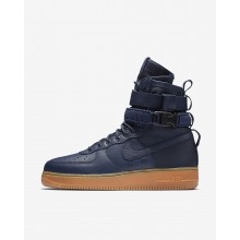 228HZAJE Nike SF Air Force 1 Lifestyle Shoes For Men Midnight Navy/Black/Gum Medium Brown