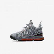 236BUMHZ Zapatillas Baloncesto Nike LeBron 15 Niño Negras/Gris Oscuro/Gris/Naranjas
