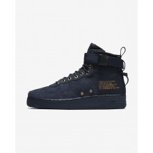 237DHKSC Nike SF Air Force 1 Lifestyle Shoes For Men Obsidian/Black