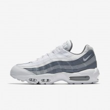 237WXULZ Nike Air Max 95 Lifestyle Shoes For Men White/Cool Grey/Wolf Grey