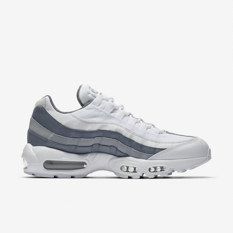 hvit og grå nike air max 95