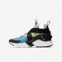 255VQXYH Nike Huarache Lifestyle Shoes For Boys Light Blue Fury/Volt/Pure Platinum/Black