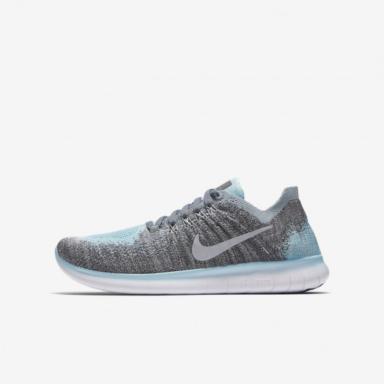 262BKIRF Nike Free RN Running Shoes For Boys Metallic Silver/Cool Grey/Dark Grey/Reflect Silver