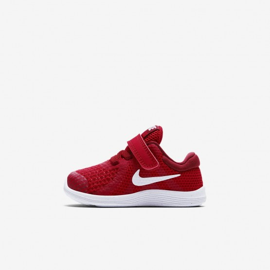 265HRTZW Nike Revolution 4 Running Shoes For Girls Gym Red/Team Red/Black/White
