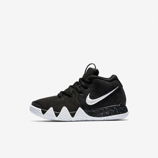 268KGUQW Nike Kyrie 4 Basketball Shoes For Girls Black/Anthracite/Light Racer Blue/White