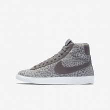 273IFVBO Nike Blazer Mid Lifestyle Shoes For Girls Atmosphere Grey/Gum Light Brown/White/Gunsmoke