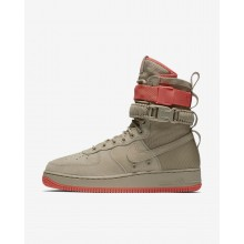 275TEIFM Nike SF Air Force 1 Lifestyle Shoes For Men Khaki/Rush Coral