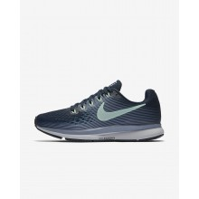 282VJLXY Nike Air Zoom Running Shoes For Women Armory Navy/Glacier Grey/Black/Mint Foam