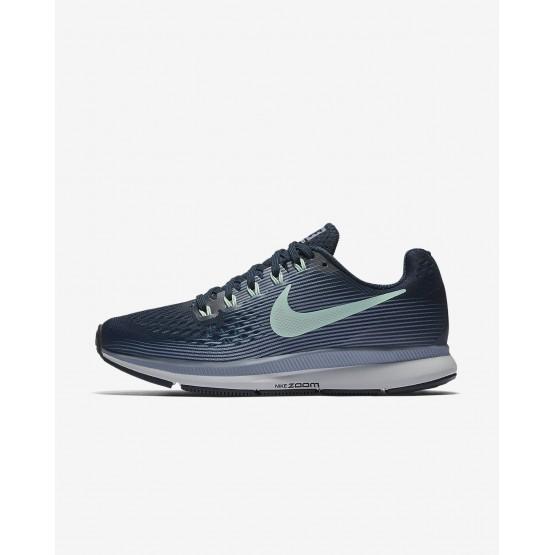 282VJLXY Nike Air Zoom Running Shoes For Women Armory Navy/Glacier Grey/Black/Mint Foam
