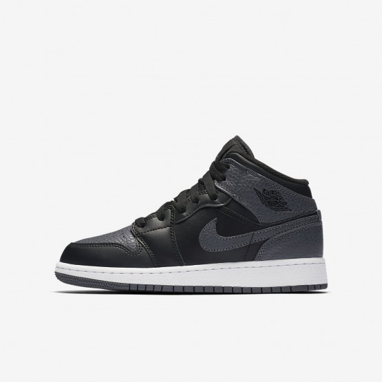 290BHVLR Air Jordan 1 Lifestyle Shoes For Boys Black/Summit White/Dark Grey
