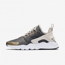 294CDGAP Nike Air Huarache Lifestyle Shoes For Women Light Orewood Brown/Blur/Black
