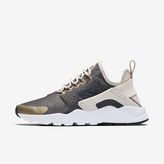 294CDGAP Nike Air Huarache Lifestyle Shoes For Women Light Orewood Brown/Blur/Black