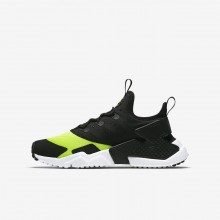 298CAPSF Nike Huarache Lifestyle Shoes For Boys Volt/White/Black