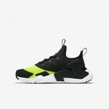 298CAPSF Nike Huarache Livsstil Sko Gutt Hvite/Svart