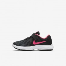 298MTSCJ Nike Revolution 4 Running Shoes For Girls Black/White/Racer Pink
