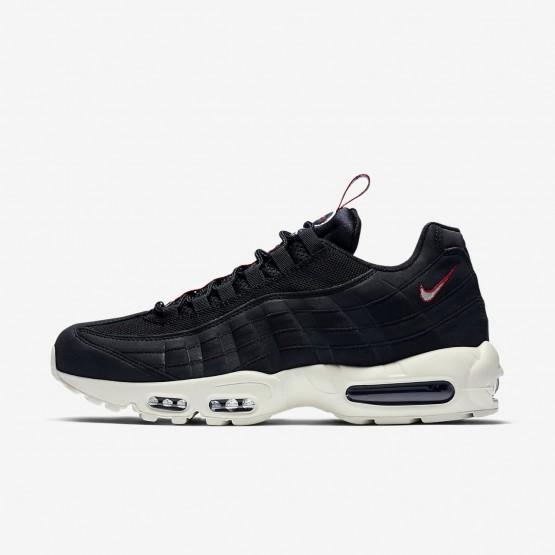 299BQRNU Nike Air Max 95 Lifestyle Shoes For Men Black/Gym Red/Sail