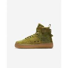 299DAZGS Nike SF Air Force 1 Lifestyle Shoes For Boys Desert Moss/Gum Medium Brown/Black