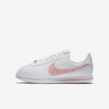 303IHVPT Nike Cortez Lifestyle Shoes For Girls White/Rust Pink/Coral Stardust