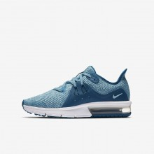 306QOXFM Zapatillas Running Nike Air Max Sequent Niña Verde/Blancas