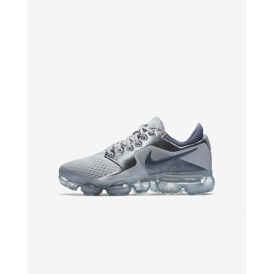 307WTQFE Nike Air VaporMax Running Shoes For Boys Wolf Grey/Metallic Silver/Anthracite/Light Carbon
