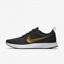 321QHWRI Nike Dualtone Racer Lifestyle Shoes For Women Black/Dark Grey/White/Metallic Gold